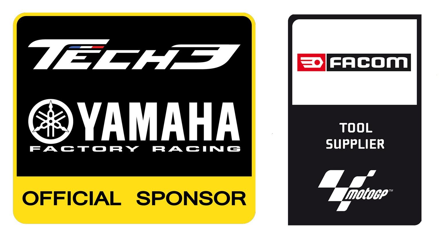 Facom Offizieller Ausruster Des Monster Yamaha Tech3 Teams Von MotoGP Logo